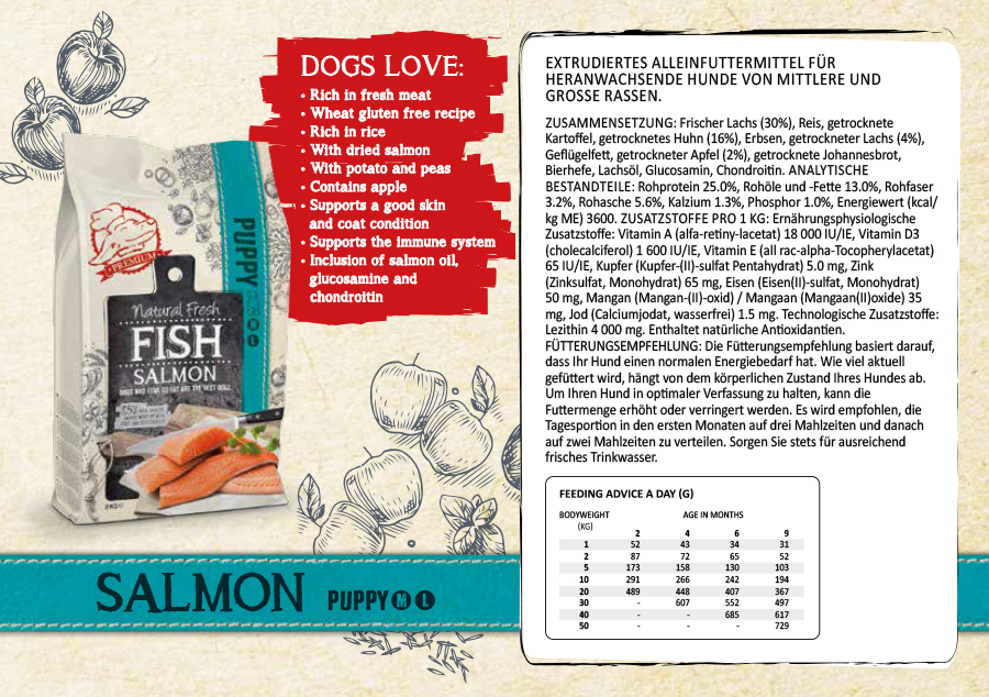 Puppy M-L Salmon