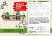Natural Fresh Meat Bio Chien Saucisse Du boeuf-Poulet 600 gr emballé par 12 pièces