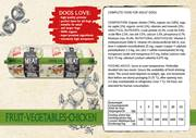 Natural Fresh Meat Organic Dog Sausage Fruit-vegetables-Chicken 600 gr packed per 12 pieces