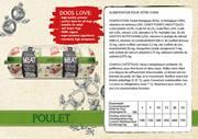 Natural Fresh Meat Bio Chien Saucisse Poulet 600 gr emballé par 12 pièces
