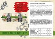 Natural Fresh Meat Biologische Worst Fruit-groente-Kip 600 gr verpakt per 12 st